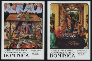 Dominica 1226-7 MNH Christmas, Art, Paintings
