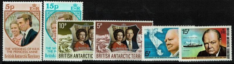 British Antarctic Territory 6 Mint Hinged, Hinge Remnant stamps - S4109
