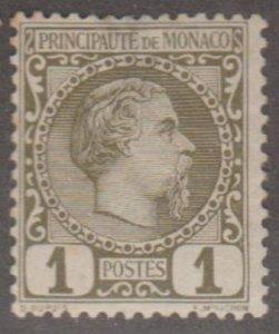 Monaco Scott #1 Stamp - Mint Single