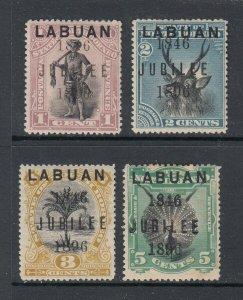 LUBAN #66-69 Jubilee Overprint of 1846 (Mint HINGED) cv$200.00