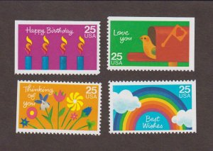 US,2395-98,GREETINGS,VINTAGE 1980'S COLLECTION MINT NH,OG