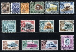 Cyprus QE II 1960-61 Cyprus Republic Overprint Set SG 188 to SG 201 VFU