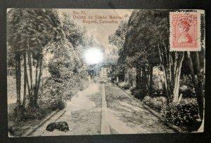 1918 Quinta Simon Bolivar Bogota Columbia St Louis Real Picture Postcard Cover
