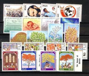 Fiji Scott 599-618 Mint NH (1989 Year Set) Catalog Value $58.25