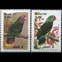 BRAZIL 1980 - Scott# 1715-6 Parrot 5c NH