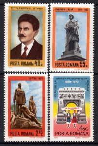 Romania 1979 Anniversaries Complete Mint MNH Set SC 2844-2847