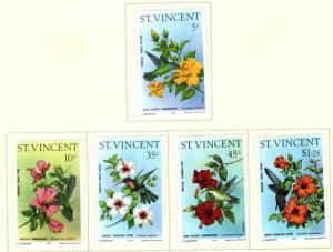 St Vincent Scott 465-469 MH* humming bird flower set