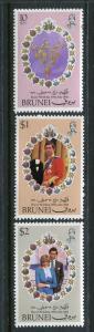 Brunei #268-70 MNH