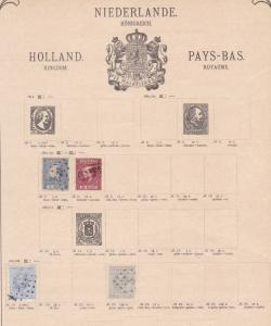 netherlands stamps collection on album pages ref r8713
