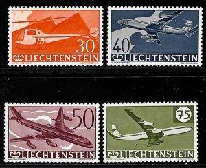 Liechtenstein #303 to 306 + C34 yo C39 Mint VF NH -- Choice set