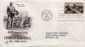United States, First Day Cover, Art, Horses