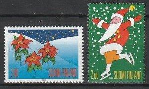 1995 Finland - Sc 979-80 - MNH VF - 2 single - Christmas