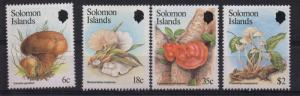 Solomon Islands Sc 515-18 Mushrooms stamp set mint NH