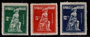 Uruguay Scott 279-281 MH* 1923 Sarandi Battle Monument set