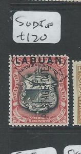 LABUAN  (PP2701B) 6C LION, ARMS  POSTAGE DUE SG D5    VFU