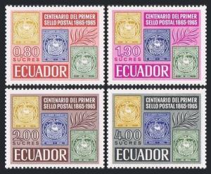 Ecuador 744-747,747a sheet,MNH.Michel 1186-1189,Bl.13. Postage stamps-100,1965