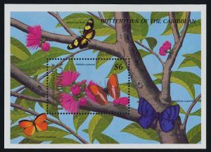 Dominica 1185 MNH Butterflies, Flowers