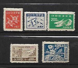 KOREA, 109-113, MNH, 1949 ISSUE