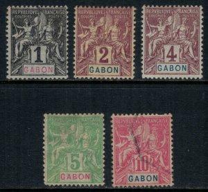 Gabon #16-20*/u  CV $17.00