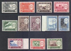 Malaya Negri Sembilan Scott 64/74 - SG68/79, 1957 Pictorial Set MH*
