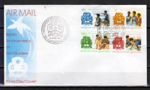 Papua New Guinea, Scott cat. 470-473. Girl Scouts Anniversary. First day cover.