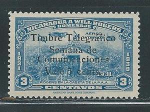 Nicaragua C238 With Telegraph Overprint MNH