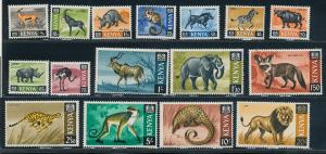1966-9 Kenya Scott 20-35 Animals MNH