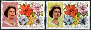 Cook Islands #218, 219A MNH CV $8.500 (X7462)