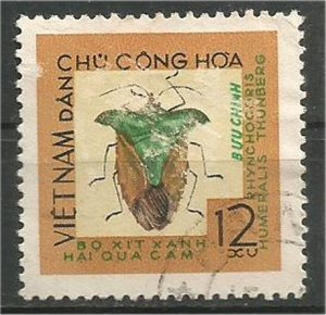 VIET NAM, NORTH, 1965, used 12xu, Insects Scott 361