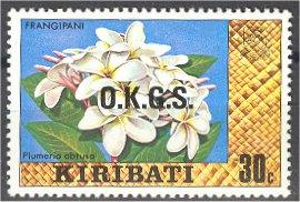 KIRIBATI 30 CENT OFFICIAL FLOWER  ON WATERMARKED PAPER R!