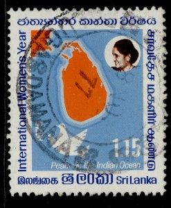 SRI LANKA QEII SG610, 1r 15 international womans year, FINE USED.