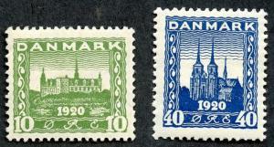 Denmark Sc# 159 - 160, MHR, 2017 SCV $76.50