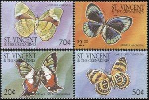 St. Vincent and the Grenadines 2001. Butterflies (MNH OG) Set of 4 stamps
