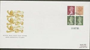20/10/1986 50p ROMAN BRITAIN BOOKLET  FDC