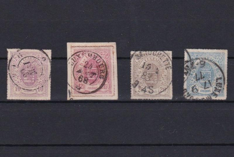 LUXEMBOURG 1859 ROULETTE STAMPS CAT £50+  REF 5688