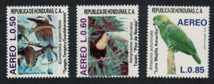Honduras Motmot Toucan Amazon Birds 3v SG#1067-1069