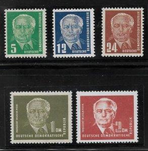 Germany DDR - Scott #113-17 - VF - Mint Never Hinged (NH)