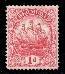 Bermuda 1922 KGV 1d Ship type III wmk MSCA SG 79 mint