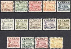 Nauru 1937 1/2d-10s Freighter SG 26B-39B Scott 17a-30a VLMM/MVLH Cat £180($252)