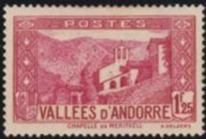 Andorra French 1933 SC 52 Mint