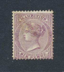 MAURITIUS 1863, 6d WMK CC PERF 14, VF MINT  SG#63 CAT$550+/- (SEE BELOW)