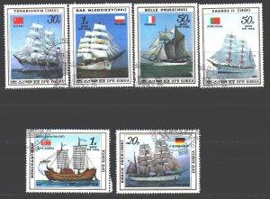 North Korea. 1987. 2811-16. Sailboats. USED.
