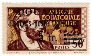 (I.B) France Colonial Revenue : Equitorial Africa Customs Duty 5Fr