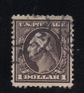US#342 $1.00 Violet Brown - Used