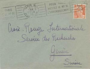 France 10F Marianne Gandon 1946 Paris XVII, Av. de Wagram Pour Paris Metrez l...