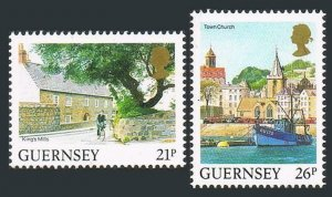 Guernsey 453-454,MNH.Michel 516-517A. Landscapes,Boat.1991.