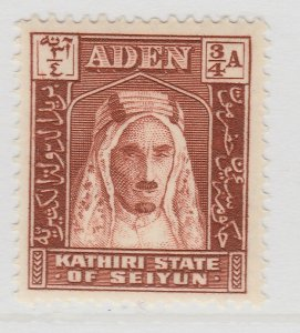 British Colonies Aden 1942 3/4a MH* Stamp A22P15F8665