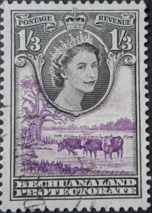 Bechuanaland 1955 QEII 1/3d SG 150 used