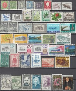 COLLECTION LOT # 2526 ICELAND 51 MH (SOME UNUSED NO GUM) STAMPS 1935+ CV+$15