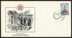 wc078 Luxembourg 1976 American Bicentennial FDC first day cover